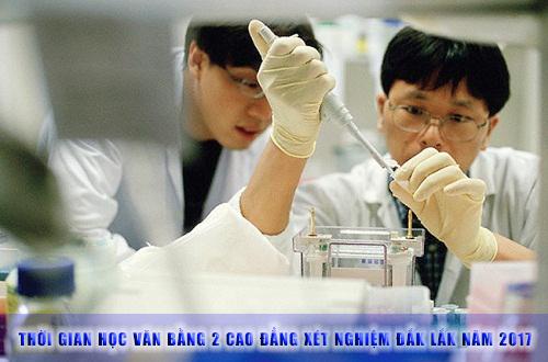 Thời gian đào tạo Văn bằng 2 Cao đẳng Xét nghiệm Đắk Lắk