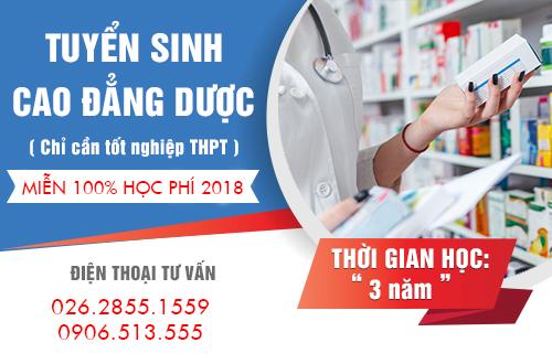 Tuyển sinh Cao đẳng Dược Đắk Lắk miễn 100% học phí 2018